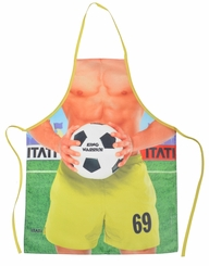 Soccer Player Funny Novelty Apron
