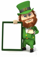 St Patrick's Day Sign Cardboard Cutout Life Size Standup