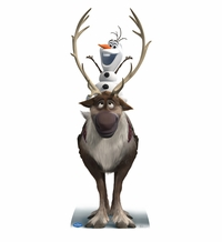 Sven and Olaf � Disney�s Frozen Cardboard Cutout Life Size Standup