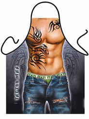 Tattoo Man Funny Novelty Apron