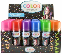 Temporary Color Hair Spray 3 oz (24 Cans) 6 Colors