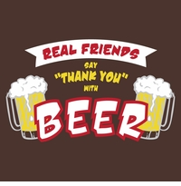 Thank You With Beer Apron