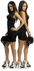 The Bella Twins WWE Wrestling Cardboard Cutout Life Size Standup