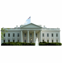 The White House Cardboard Cutout Life Size Standup
