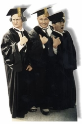 Three Stooges as Graduates Cardboard Cutout Life Size Standup