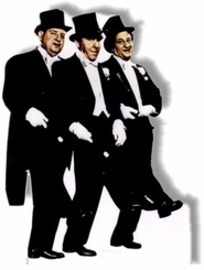 Three Stooges in Tuxedos Cardboard Cutout Life Size Standup