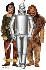 Tin Man, Cowardly Lion and Scarecrow from The Wizard of Oz Cardboard Cutout Life Size Standup