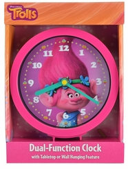 "Trolls Poppy 6"" Dual-Function Clock"