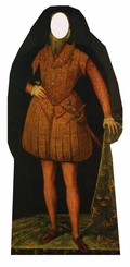 Tudor Man Cardboard Cutout Life Size Stand-In