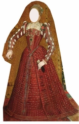 Tudor Woman Cardboard Cutout Life Size Stand-In
