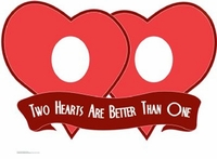 Two Hearts are Better Than One Stand-In Cardboard Cutout Life Size Standup