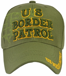 U.S. Border Patrol Hat Green with Map - Click to enlarge