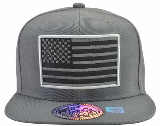 US Flag Grey Hat Grey Brim - Click to enlarge