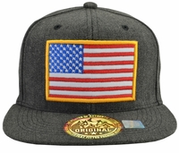 US Flag Red, White, and Blue Dark Grey Hat