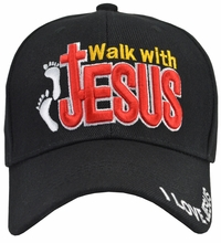 Walk With Jesus Black Hat