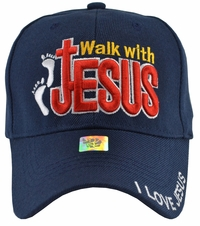 Walk With Jesus Blue Hat
