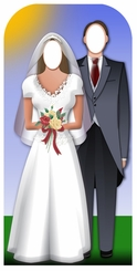 Wedding Couple Cardboard Cutout Life Size Stand-In