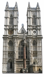 Westminster Abbey Cardboard Cutout Life Size Standup