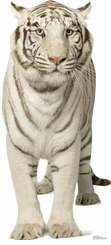 White Tiger Cardboard Cutout Life Size Standup