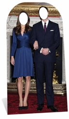 Will and Kate Cardboard Cutout Life Size Stand-In