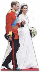 William & Kate Wedding Cardboard Cutout Life Size Standup
