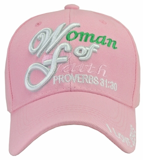 Woman of Faith Pink Hat - Click to enlarge