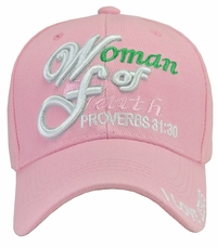 Woman of Faith Pink Hat