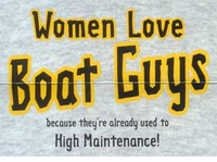 Women Love Boat Guys T-Shirt