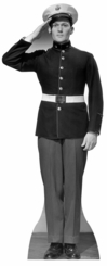 WWII US Marine Cardboard Cutout Life Size Standup