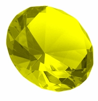 Yellow 3.15 Inch Diamond 80mm