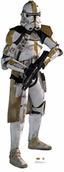 Yellow Clone Trooper Cardboard Cutout Life Size Standup