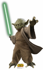 Yoda with Lightsaber--Episode III Cardboard Cutout Life Size Standup