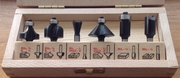 "6-piece Carbide-Tipped Router Bit Set, 1/4"" Shank"