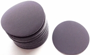 "Solid BlackCarbon Wet/Dry Paper Hook and Loop Sanding Discs, 3"" Diameter, P320 Grit, Box of 50."