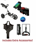 Clicgear 3.5+ Golf Push Cart Silver/Black  FREE XTRA ACCESSORIES!