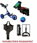 Clicgear 3.5+ Golf Push Cart BLUE  FREE XTRA ACCESSORIES
