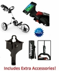 Clicgear 3.5+ Golf Push Cart Arctic/White FREE EXTRA ACCESSORIES!