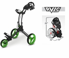 Rovic RV1C by Clicgear Compact Golf Push Cart Charcoal/Lime
