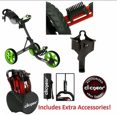 BONUS! Clicgear 3.5+ Golf Cart | Newest 3.5 Model FREE Extra Accessories!