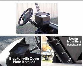 Commercial Grade 12 Pack Cooler with Golf Cart Steering Column Mount