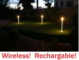 FREE SHIPPING!   Wireless Putting Green Lights | Rechargeable Putting Green Flagstick