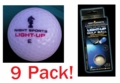 Twilight Tracer Night Sports Light Up Golf Ball 9 Pack