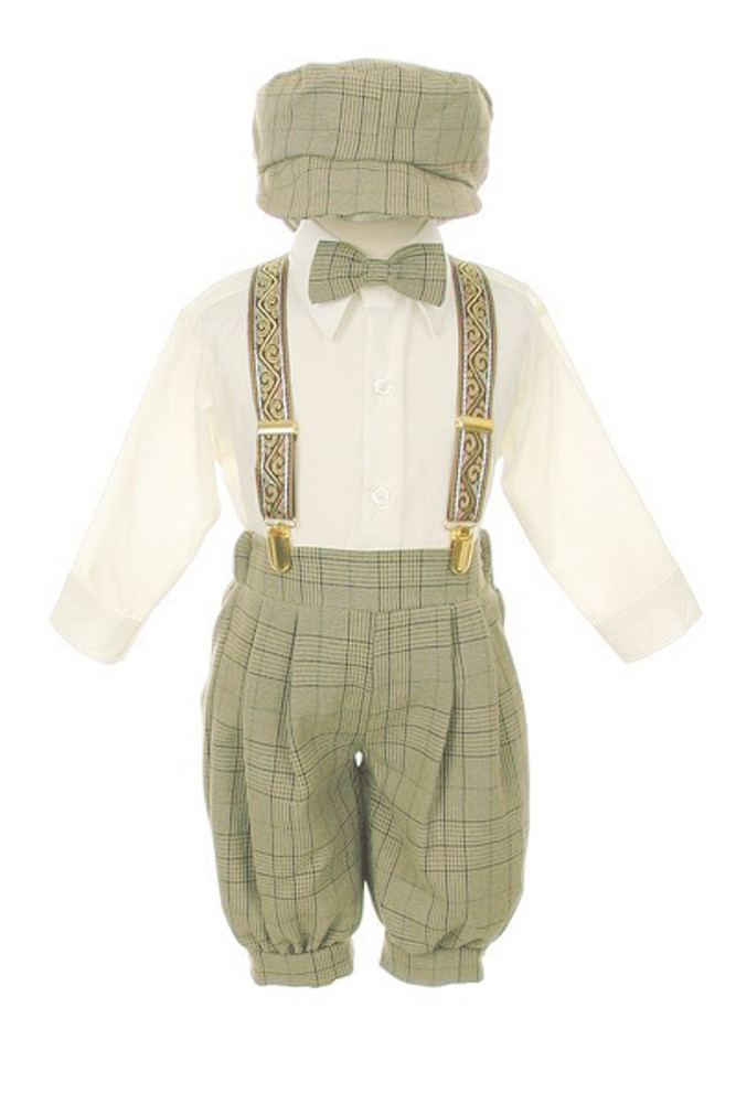 baby boy suits boys sage plaid knicker boys 5 pc set sold out