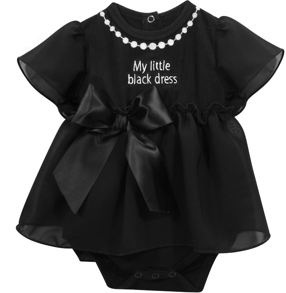 498c75246b70 Baby Girls Little Black Dress Snapdress - SOLD OUT