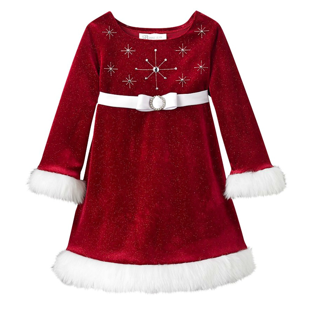 bb08f727fab7e Bonnie Baby Girls Beaded Santa Christmas Dress
