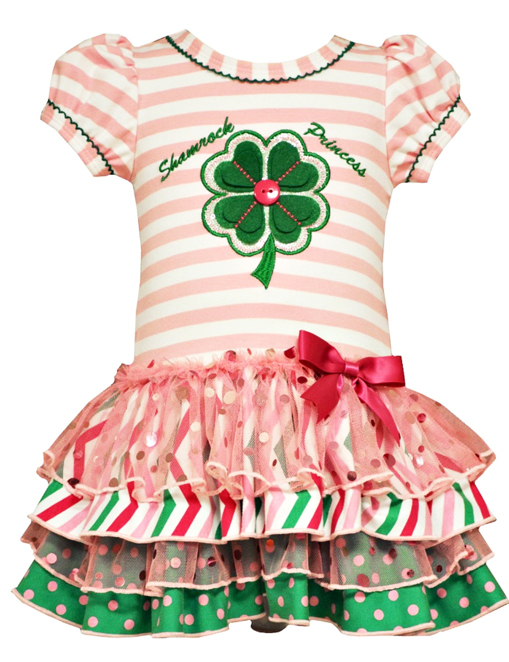 15e03f134c2d Bonnie Jean Baby Girls Shamrock Princess St Patrick s Dress
