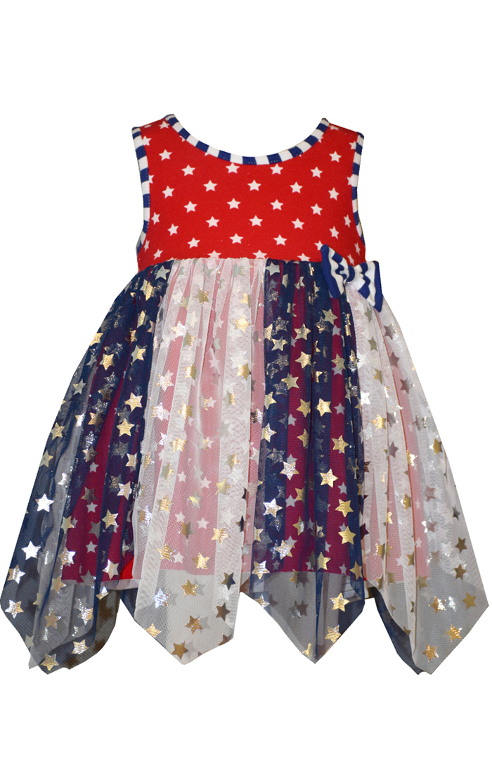 1c9046196411 Bonnie Jean Baby Patriotic Pageant Star Tulle Dress