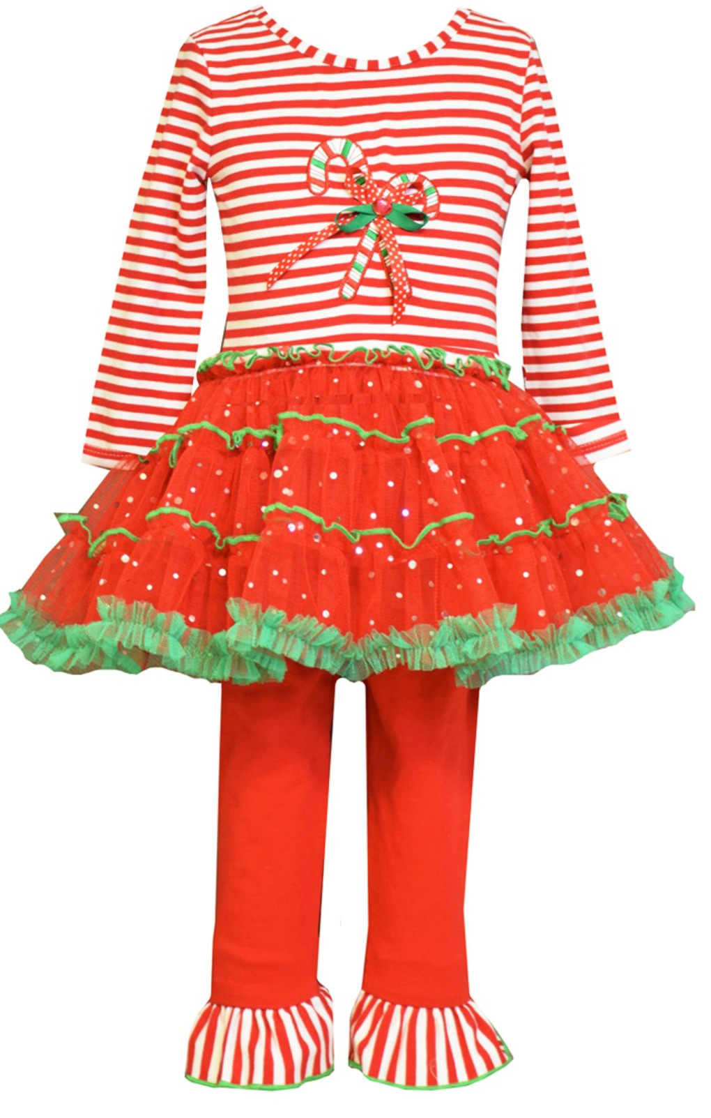 63e98496b5c Bonnie Jean Candy Cane Tutu Legging Set - NEW!