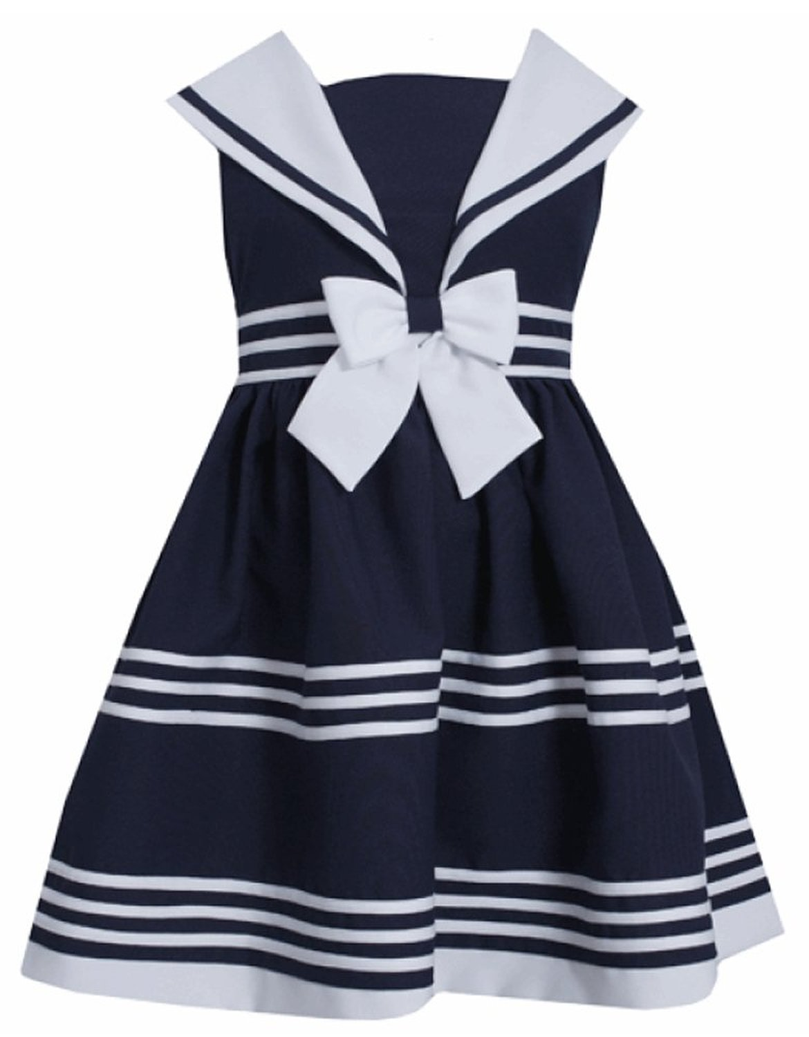 In fashion kids bonnie jean little girls sailor dress sleeveless sold out dhlflorist Gallery