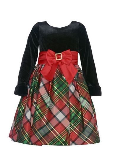 486fb474c7d0 Bonnie Jean Little Girls Sweetheart Plaid Holiday Dress - sold out